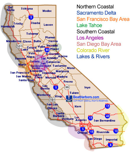 California Marina Map